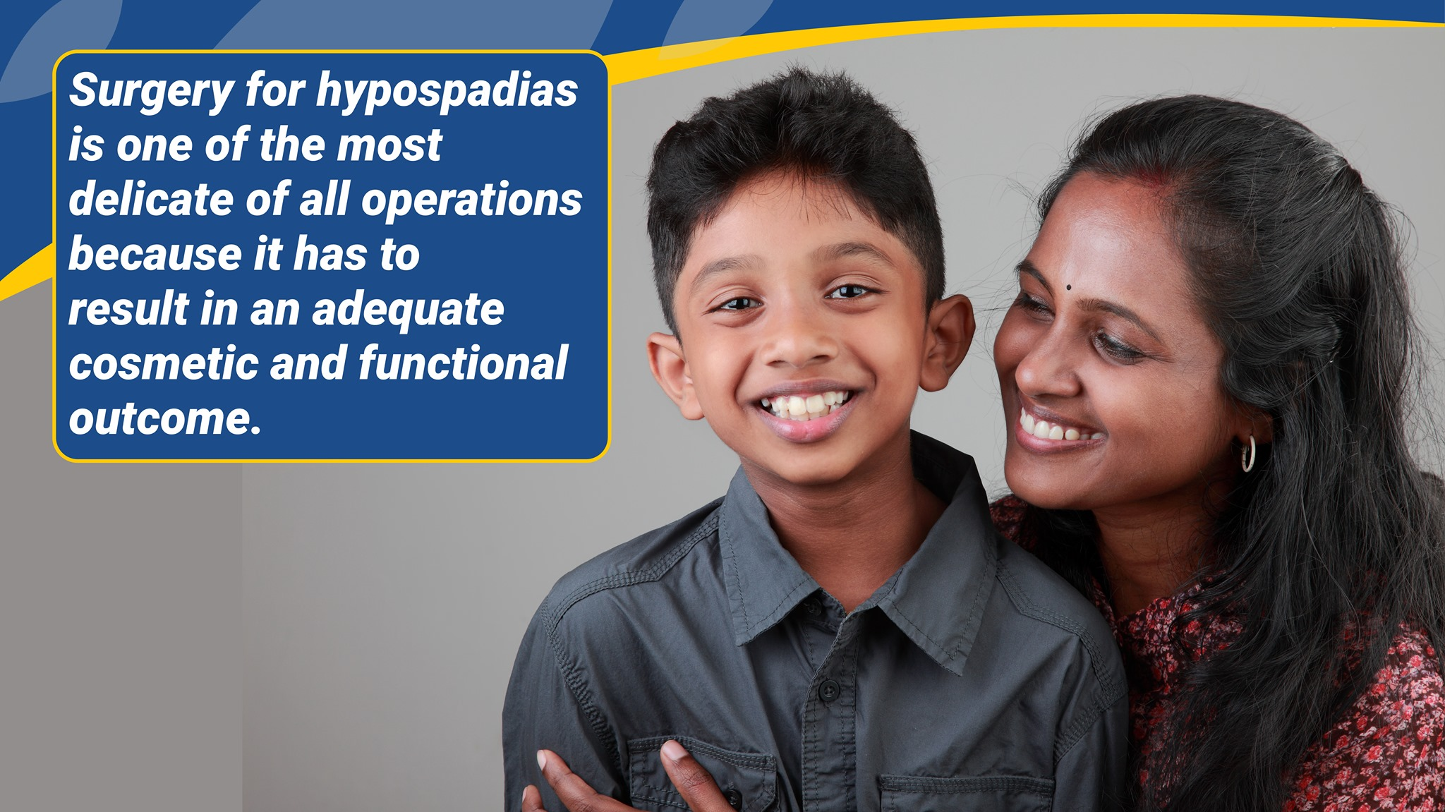 Surgery for hypospadias is one of the most delicate of all operations because it has to result in an adequate cosmetic and functional outcome